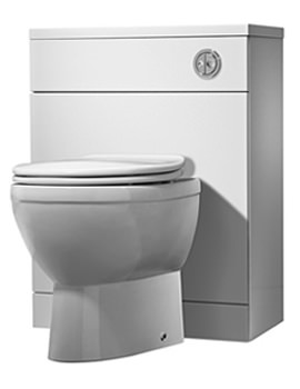 Envy 620mm White Back To Wall WC Unit - EL62BTWW