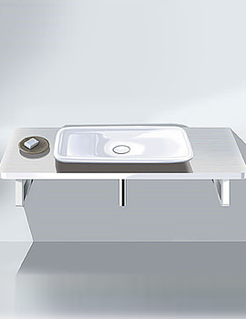 Related Duravit PuraVida Basin 700mm On Console 1800mm - PV070CZ8585