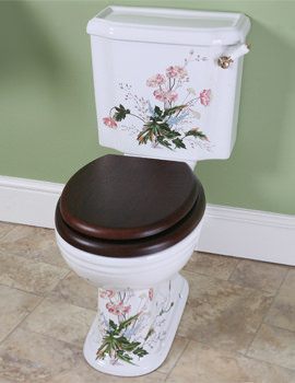 Victorian Garden White Close Coupled Pan And Cistern