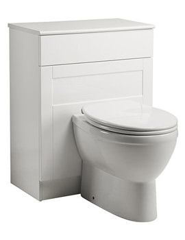New England 620mm Back To Wall WC Unit White