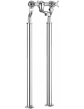 Belgravia Crosshead Chrome Bath Filler Tap With Legs