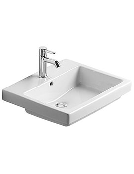 Vero White 550 x 465mm 1 Tap Hole Counter Top Basin - 0315550000