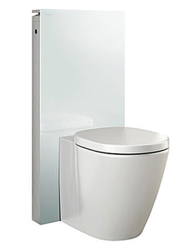 Related Geberit Monolith For Floor Standing WC White Glass - 131.002.SI.1