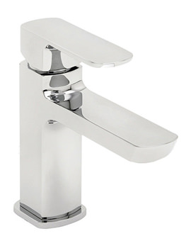 Vamp Mono Basin Mixer Tap With Click Clack Waste Chrome