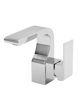Rubik Mono Basin Mixer Tap With Click Clack Waste Chrome