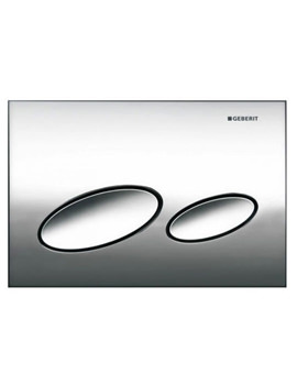 Kappa20 Dual Flush Plate Gloss Chrome - 115.228.21.1