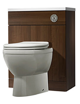 Kato 620mm Walnut Back To Wall WC Unit Only - EL62BTWAW