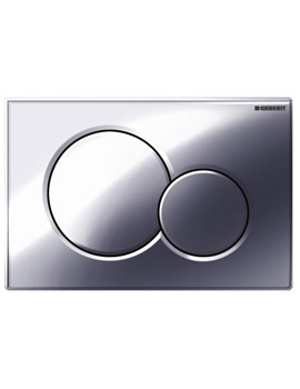 Sigma01 Dual Flush Plate Gloss Chrome - 115.770.21.5