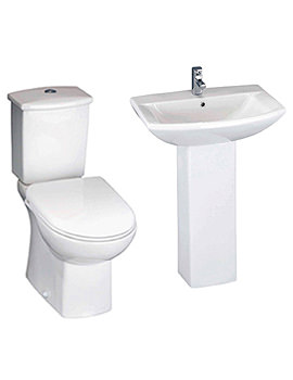 Lauren Asselby White 4 Piece Cloakroom Suite - CSS001