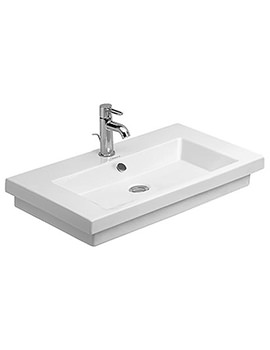 Related Duravit 2nd Floor Single Taphole Washbasin 700mm - 0491700000