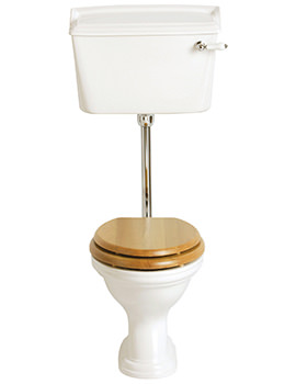 Dorchester Low Level Flush WC Pan And Cistern 770mm