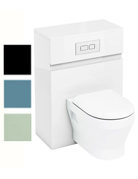 Related Britton Aqua Cabinets D300 Wall Hung Unit With Flush Plate - W34W