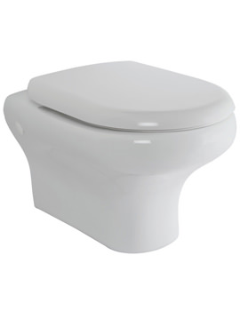 Compact New Wall Hung WC Pan With Soft-Close Seat 520mm