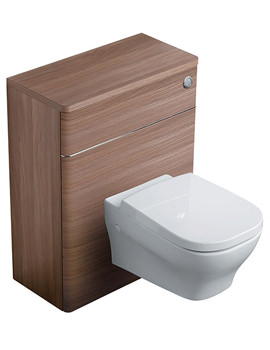 Softmood 650mm WC Unit Walnut - T7819S6