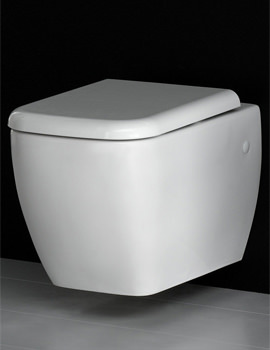 RAK Metropolitan Wall Hung WC Pan With Soft-Close Seat 525mm