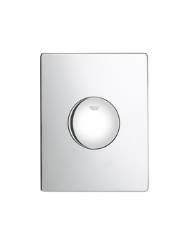 Skate Pneumatic Single WC Flush Wall Plate Chrome - 38573000