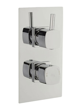 Related Hudson Reed Kia Twin Concealed Thermostatic Shower Valve - A3010