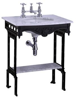 Burlington Georgian Marble Slab With Black Aluminium Stand And Shelf