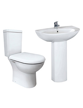 Lauren Knedlington White 4 Piece Cloakroom Suite - CKN001