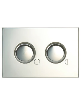 Dual Flush Air Button With Mini Plate 80x124mm - CF9032CP