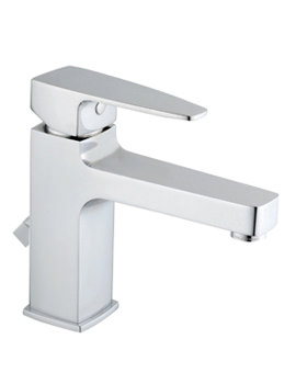 Related VitrA Q-Line Basin Mixer Tap With Pop-Up Waste Chrome - A40776