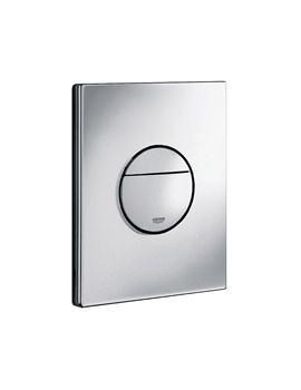 Nova Dual Flush WC Wall Plate Chrome - 38765000
