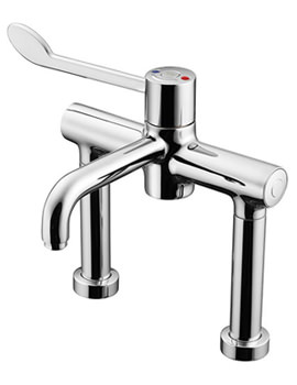 Markwik 21 Single Lever Pillar Mixer Tap With Bioguard