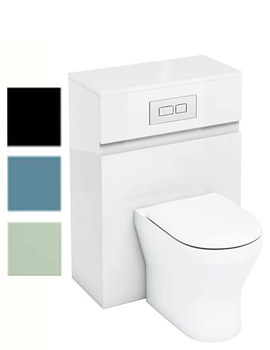 Related Britton Aqua Cabinets D300 BTW WC Unit With Flush Plate - W32W