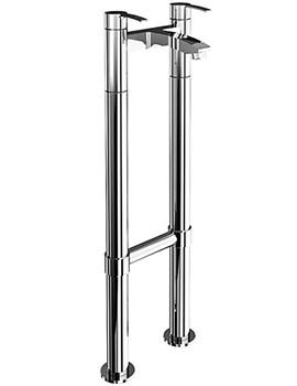 Cleargreen Sapphire Floor Standing Bath Filler Tap Chrome