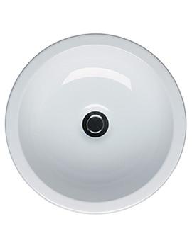 White Round Vessel Basin 400mm Wide - E000601