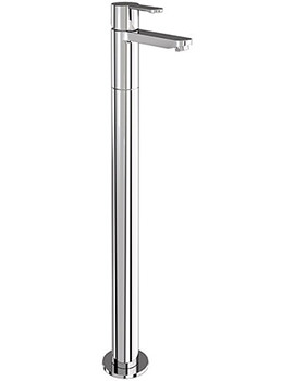 Crystal Single Lever Bath Filler Tap With Floor Mounted Legs