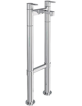 Britton Crystal Chrome Bath Filler Tap With Floor Mounted Legs