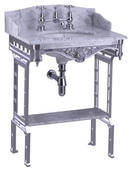Related Burlington Sarah Marble Slab With Polished Aluminium Stand And Shelf