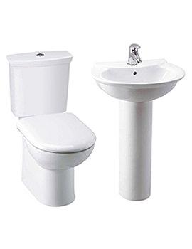 Lauren Otley White Toilet and Basin Set - CTL001