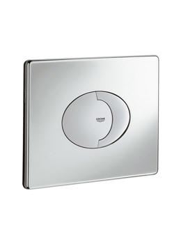 Skate Air Dual Horizontal WC Flush Wall Plate Chrome - 38506000