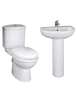 Lauren Ivo White Basin And WC Set - CIV001