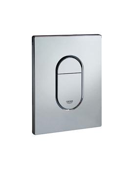Arena Vertical Print Flush Plate Chrome - 38844000