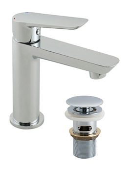Photon Mini Mono Basin Mixer Tap With Clic-Clac Waste - PHO-100M-CC