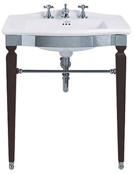 Westminster Jet Chrome Basin Stand And Vanity Basin