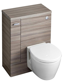 Related Ideal Standard Concept Space WC Unit With Left Hand Storage Cupboard Elm