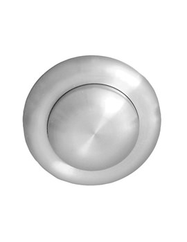 Single Flush Small Air Button Stainless Steel For 3-40mm Panel Depth