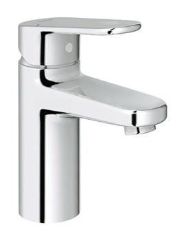 Europlus Smooth Body Chrome Mono Basin Mixer Tap With Metal Lever
