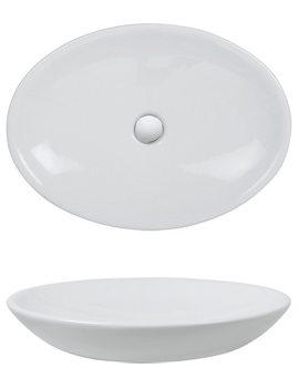 Related Bauhaus Scoop Countertop 620 x 500mm Basin - CT5038UCW