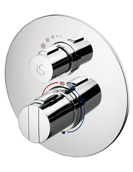 Related Ideal Standard Concept Easybox Slim Built-In Shower Mixer Round