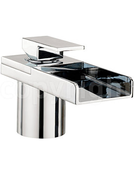 Water Square Deck Mounted Monobloc Bath Filler Tap With Light