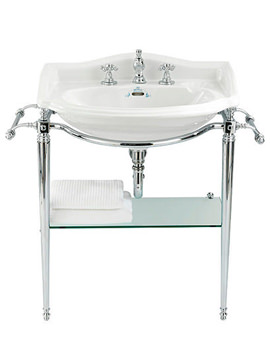 Drift 660mm Large Basin And Chrome Basin Stand