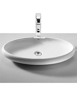 Urbi 5 White On Countertop Basin 650mm Width - 327229000
