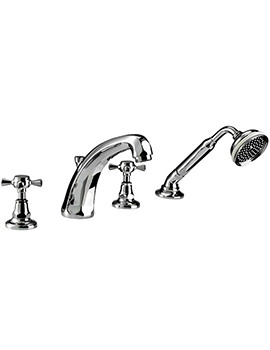 Glace 4 Hole Bath Filler Tap And Handset Kit - ZXT6024100