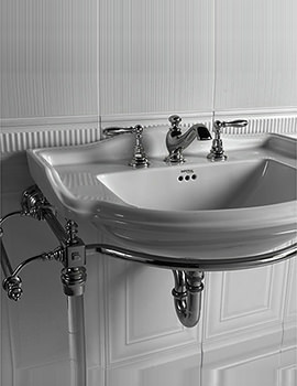 Hardwick Chrome Basin Stand With Drift Large Basin