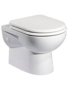 Micra Wall Hung WC Pan And Soft Close Seat 515mm - WH100S